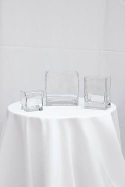 Cube & Rectangular Clear Vase