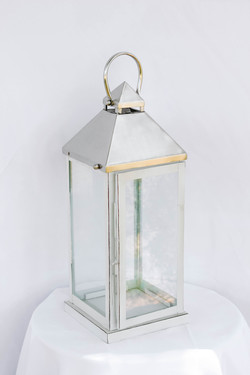 Large Silver/Ivory Lantern
