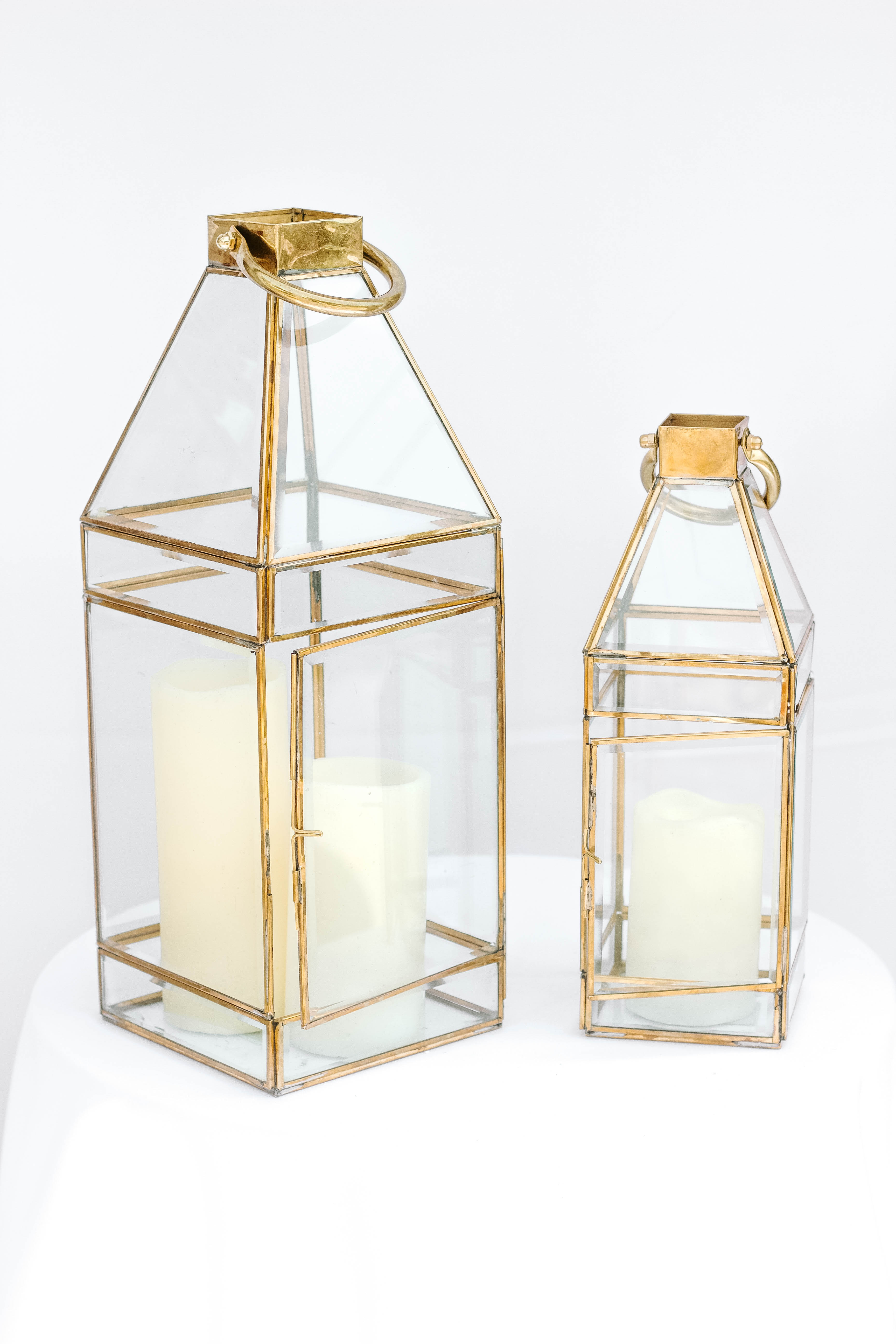 Large and Small Gold Lantern
