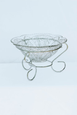 Glass Bowl in Metal Holder