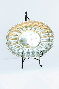 Large Silver Flower Tray