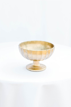 Gold Wide-Lined Compote