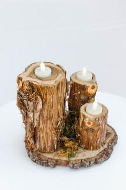 Tree Stump Votive