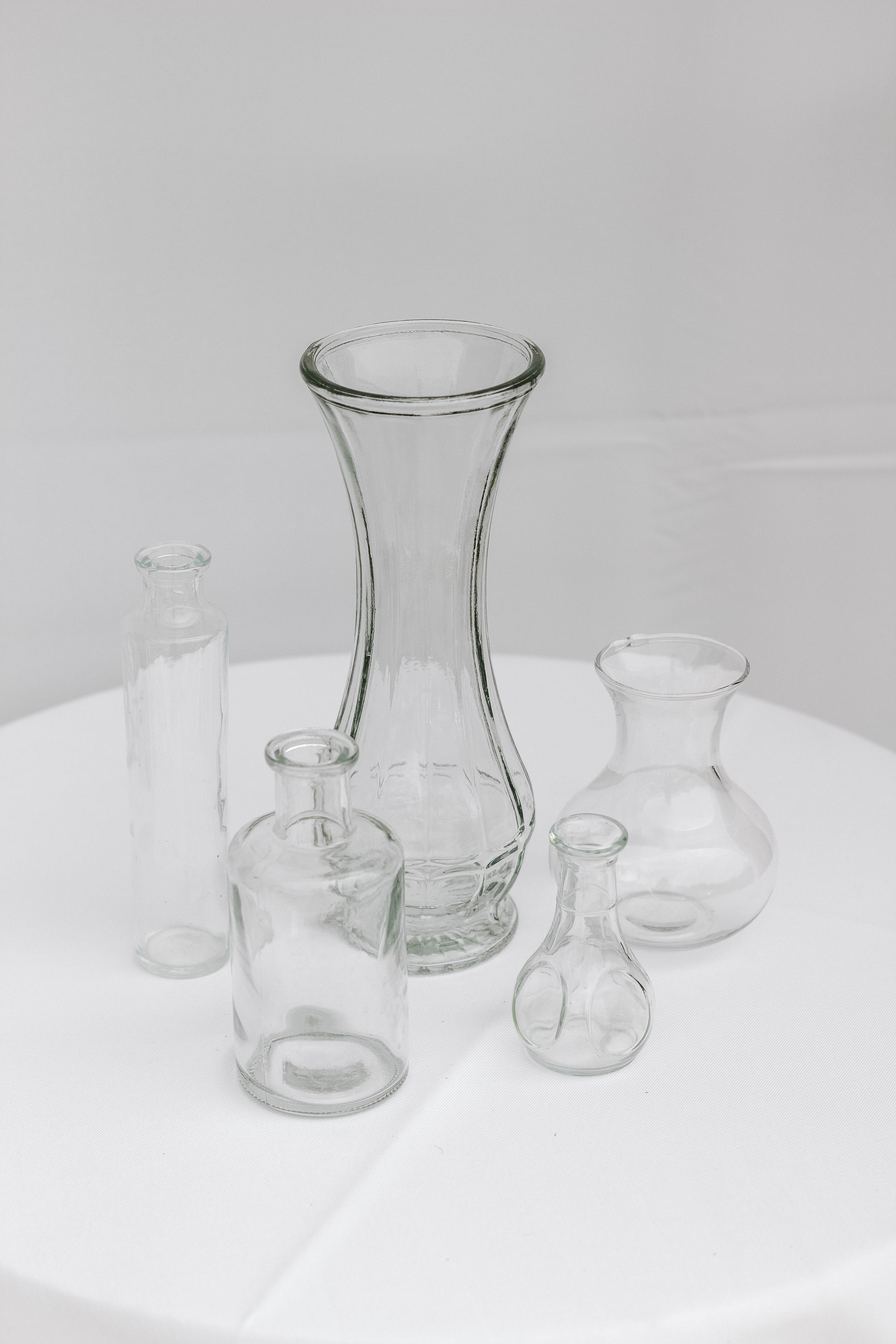 Mixed Clear Vases