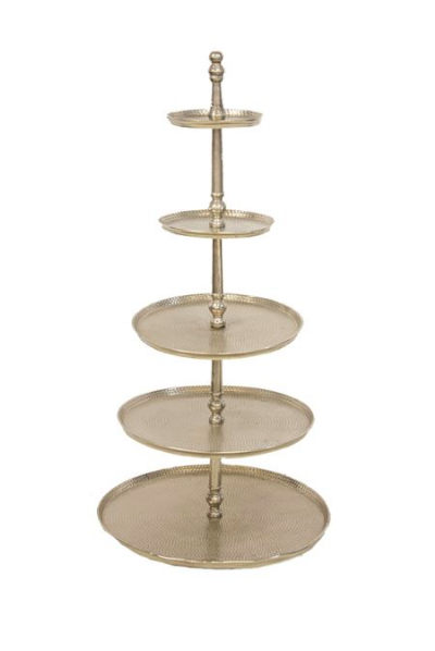 5 Tiered Silver Cake Stand