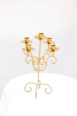 Matte Gold Curled Candelabra