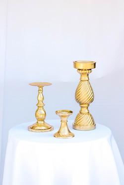 Gold Pillar Stands