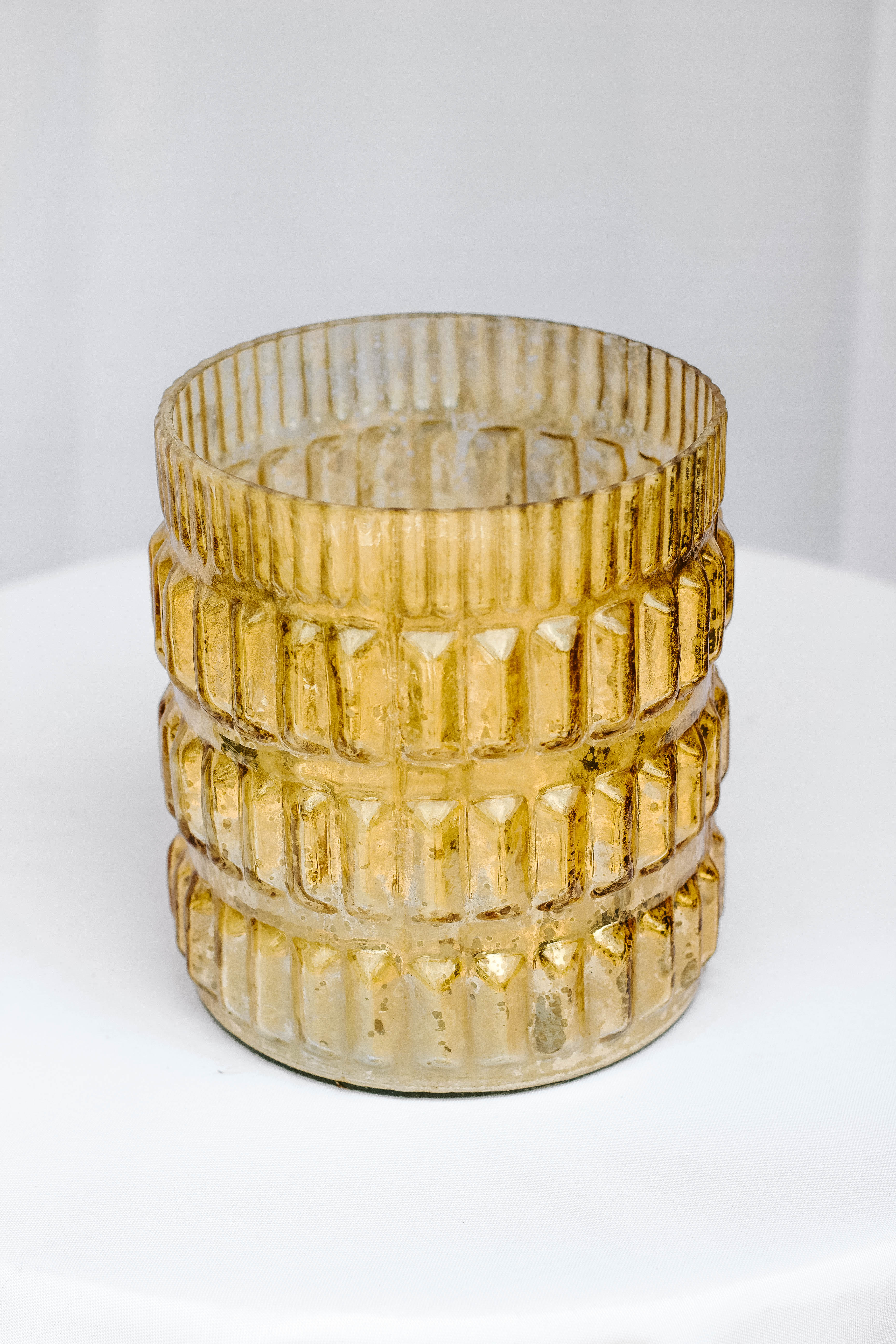 Rigged Gold Round Vase