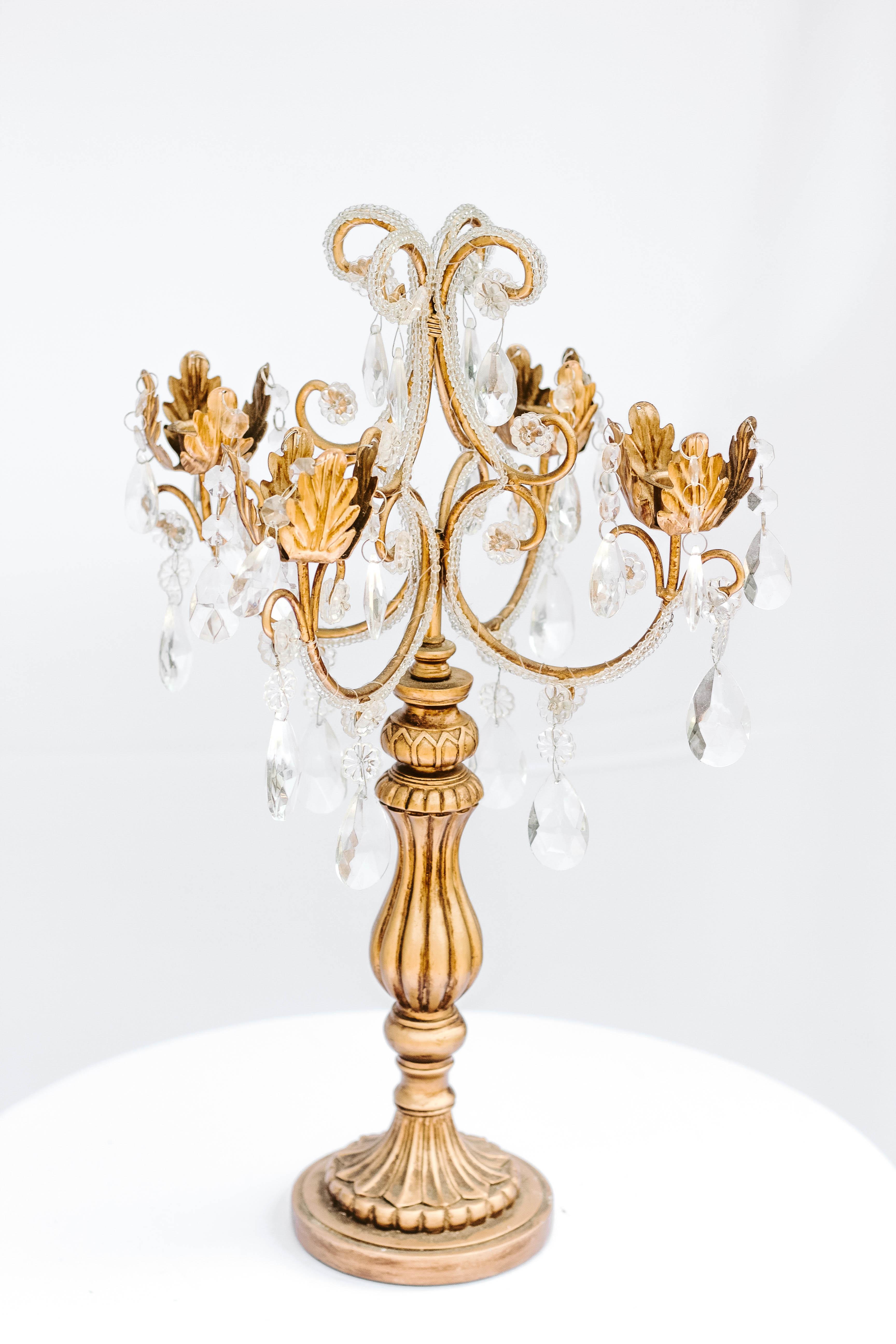 Bronze Jeweled Candelabra