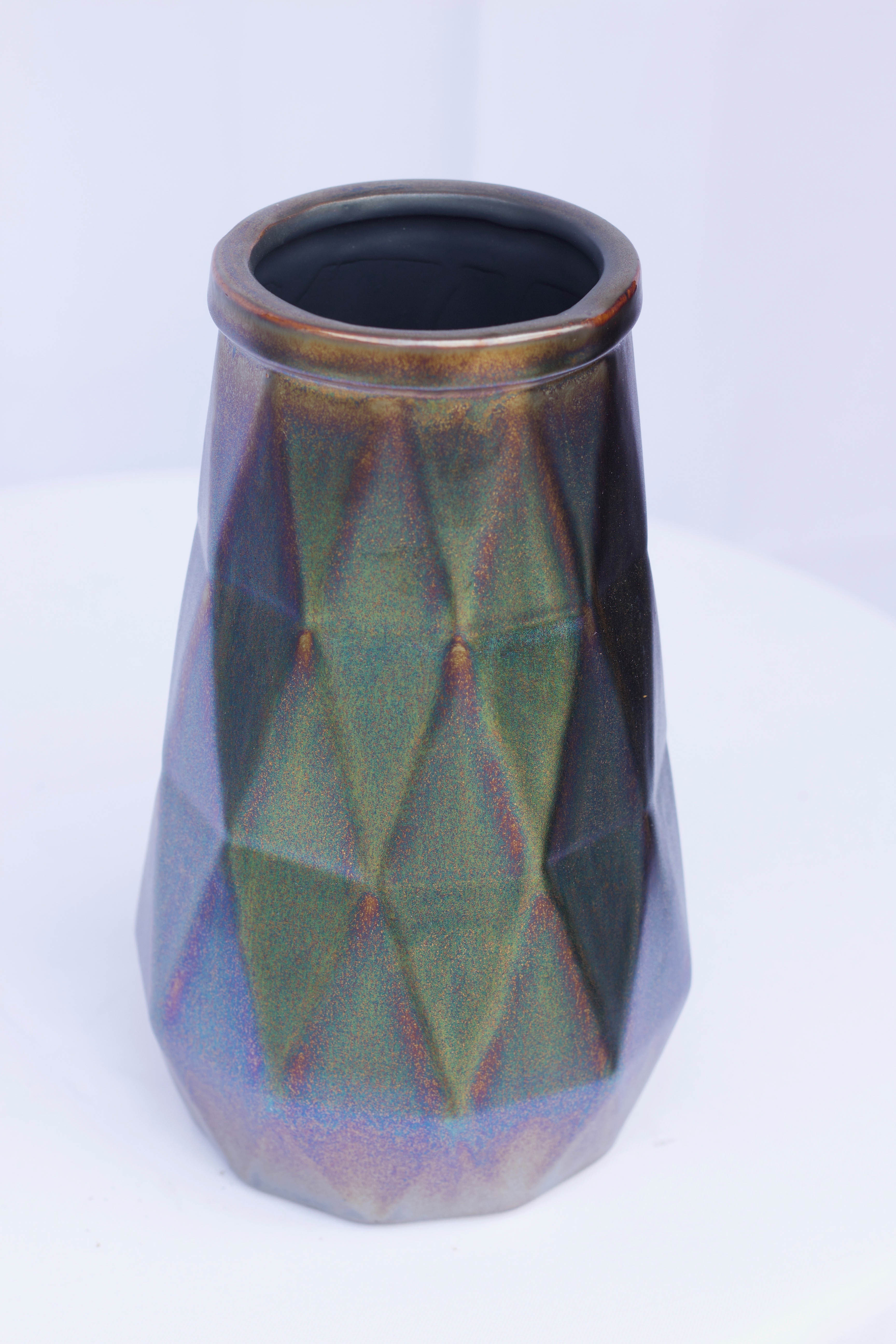 Copper Metallic Vase
