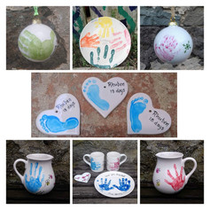 Hand print ceramics