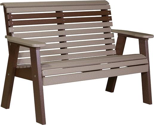 4' Plain Back Bench