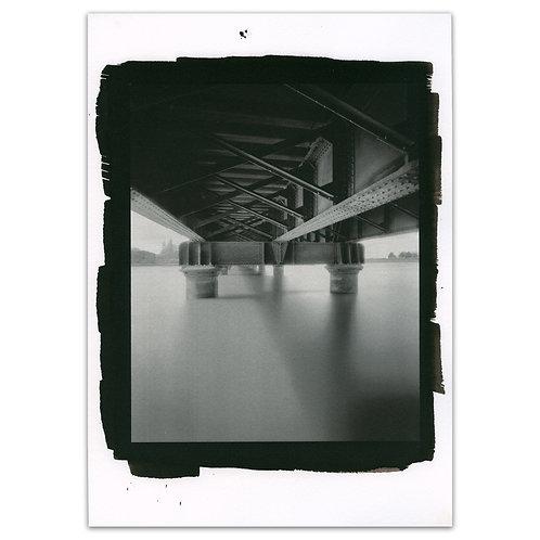 Railway bridge pinhole kallitype