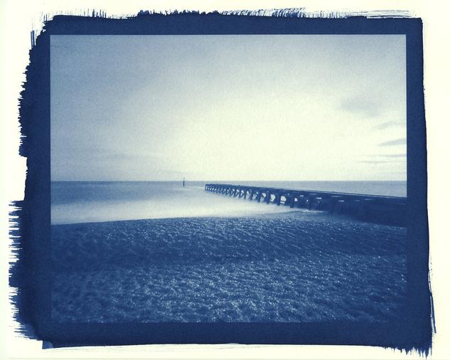 Groyne - Cyanotype