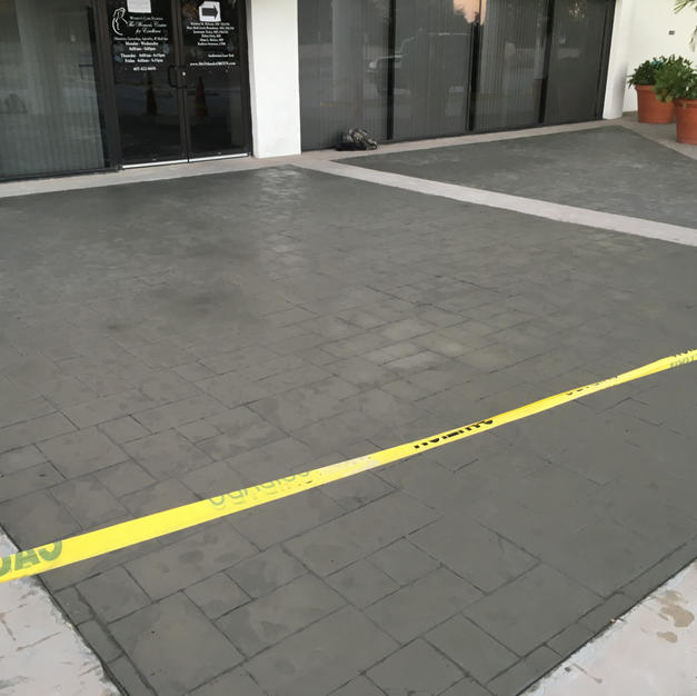 No color - Ashlar Slate Stamp Pattern - Orlando, FL