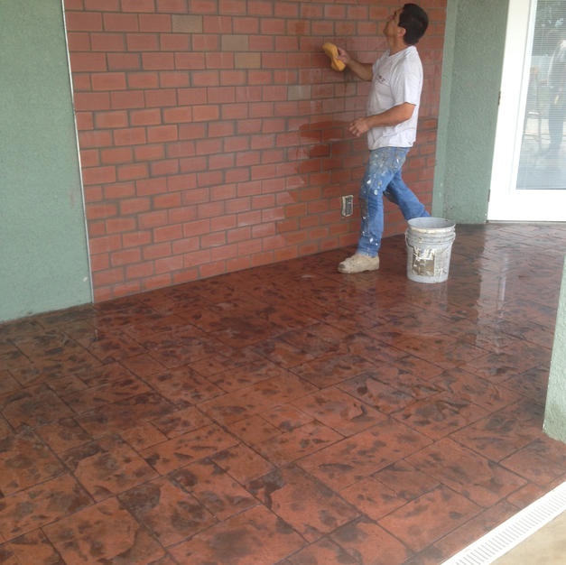 Brick Red - Ashlar Slate Stamp Pattern - Tampa, FL