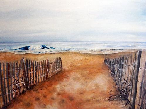 ocean city md beach oil landscape seascape waves sand relaxing painting on canvas interior beach decor wall art