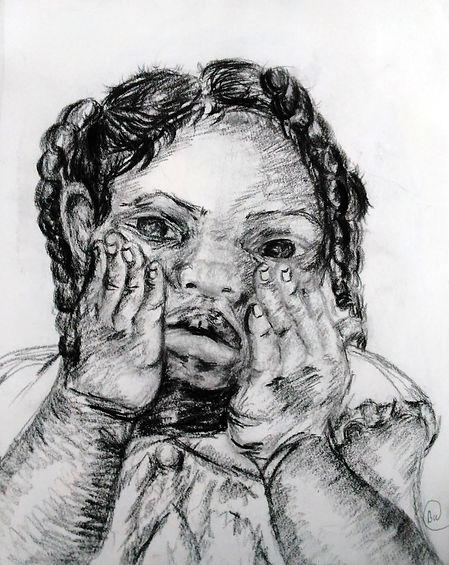 Little Girl Portrait Drawing