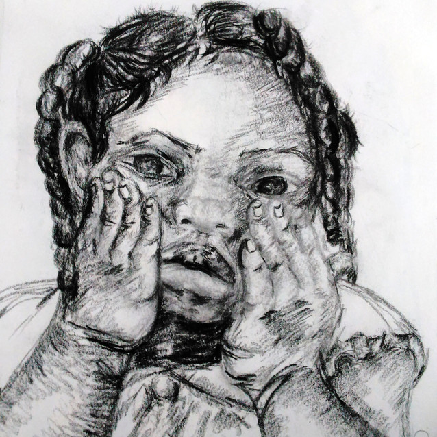 """""""Drawing of Girl"""" 8.5x11 in."""