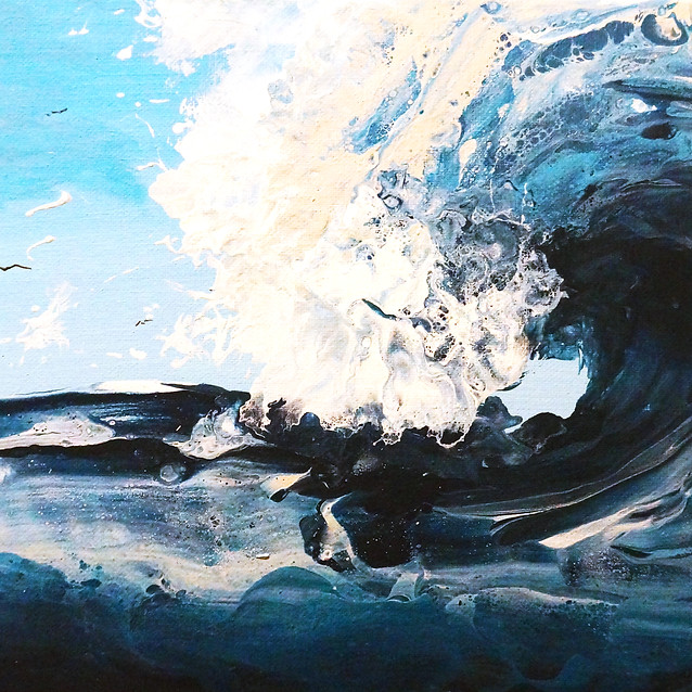 """""""Spirit Wave""""   10x20 in.   Acrylic on Canvas"""