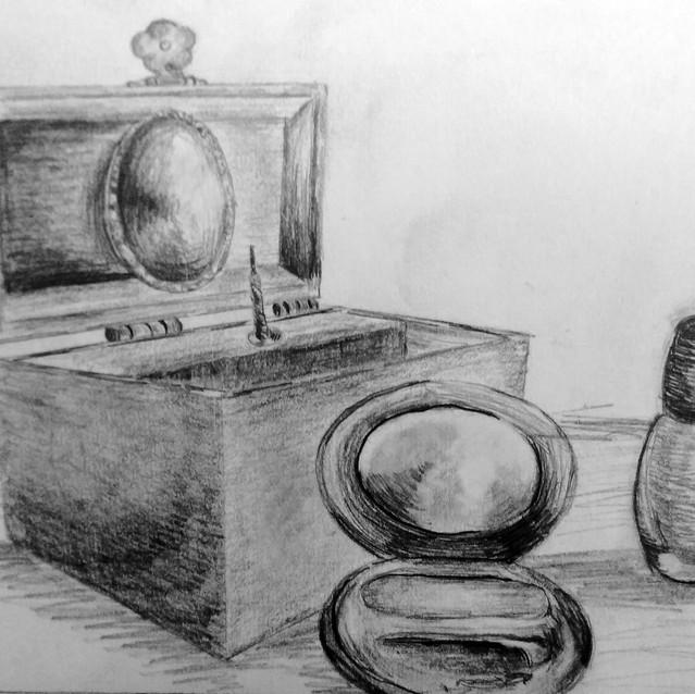 """Still Life Drawing"" 8.5x11 in."
