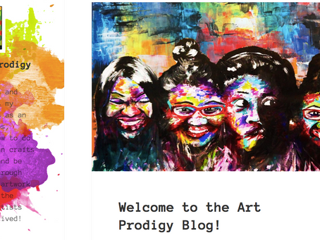 I have officially Launched a blog   on Wordpress at artprodigyblog.com. Check me out!