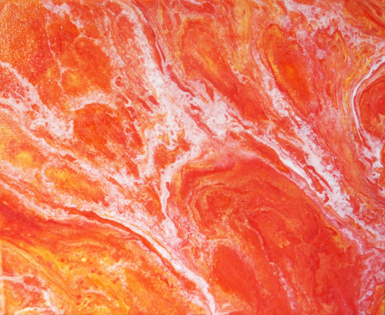 """Sunset Burst""   8X10 in.   Acrylic on Canvas"