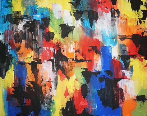 large big bright layered modern etsy abstract acrylic painting on canvas