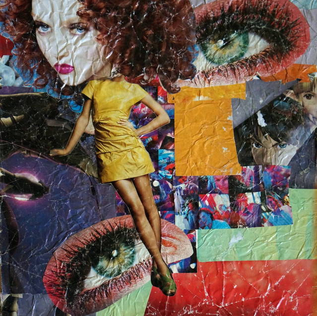 """""""Fashionista""""   12X16 in.   Magazine Clippings on Canvas Panel"""