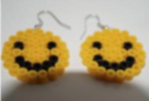Smiley Face Perler Earrings