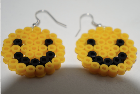 Smiley Face Perler Earrings