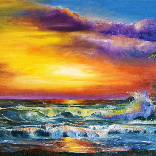 """""""So This is Paradise""""   24X36 in.   Oil on Canvas"""