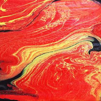 """Molten Lava"" | 10x20 in. | Acrylic on Canvas"