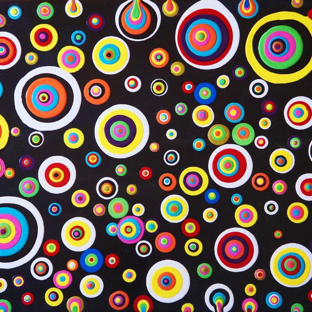 """""""Bohemian Blobs""""   16X20 in.   Acrylic on Canvas"""