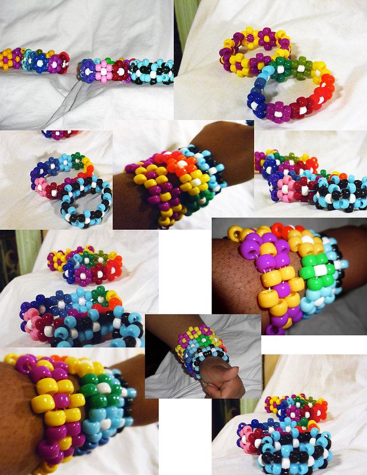 Kandi Flower Bracelet
