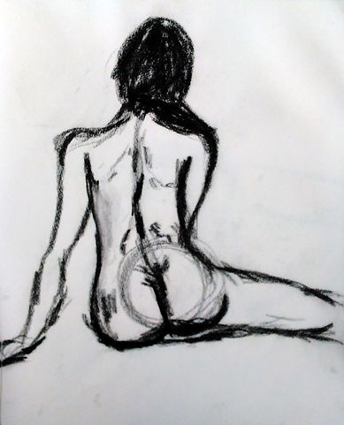 Figure Portrait Drawing Charcoal