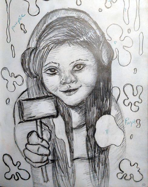 Artist Drawing Headphones