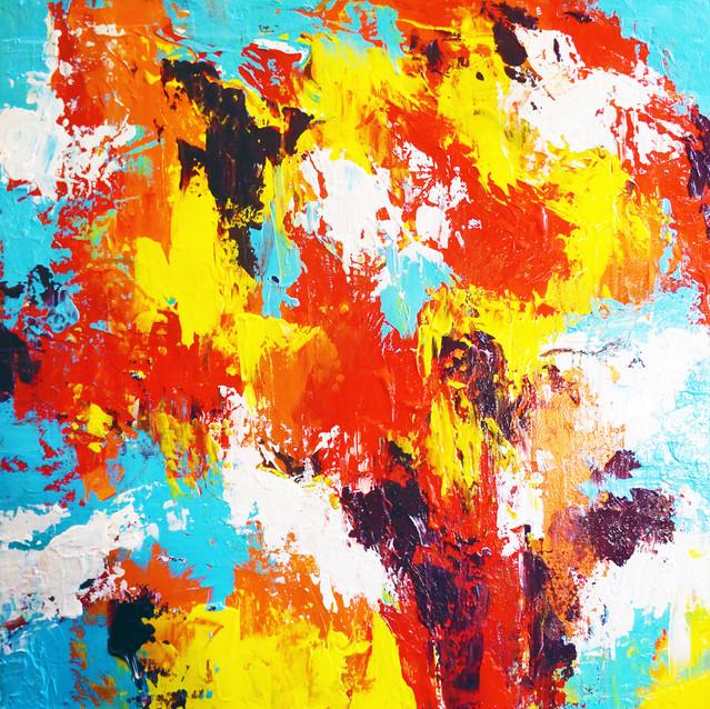 """Spiritual Awakening""   20X20 in.   Acrylic on Canvas"