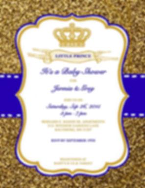 Baby Shower Invitation Little Prince