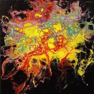 """Static Shock"" | 4x4 in. | Acrylic on Canvas panelPG"