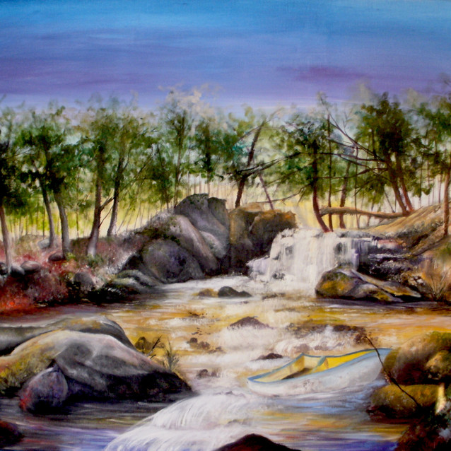 """""""Movement of the Stream""""   30X40 in.   Oil on Canvas"""