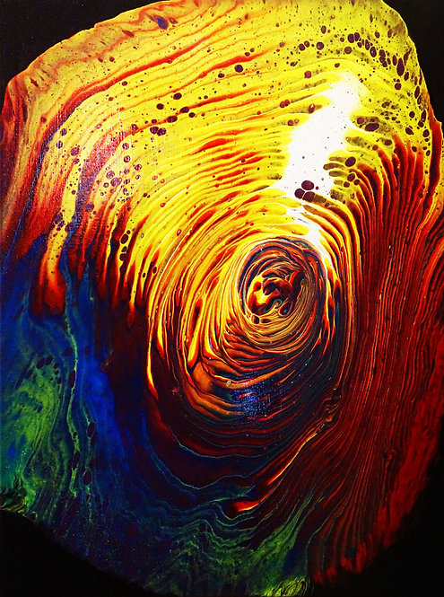 etsy fluid painting, tree ring rainbow fluid acrylic painting abstract 18x24 interior decor wall art 10x20