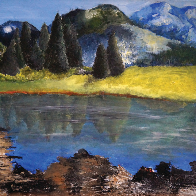 """""""The Mountains""""   16x20 in.   Acrylic on Canvas"""