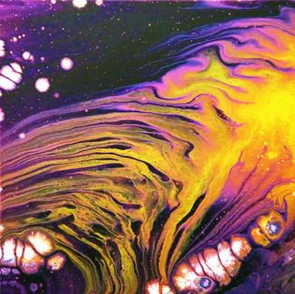 """Zebra Galaxy"" | 12X12 in. | Acrylic on Canvas"