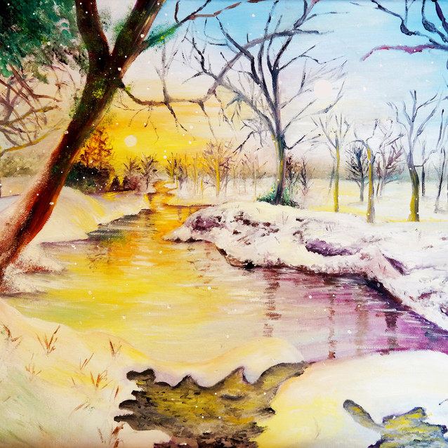 """""""Start of Winter""""   16X20 in.   Oil on Canvas"""