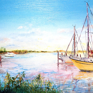 """Fishing Island Rd., Upper Fairmount MD"" | 10X20 in. | Oil on Canvas"