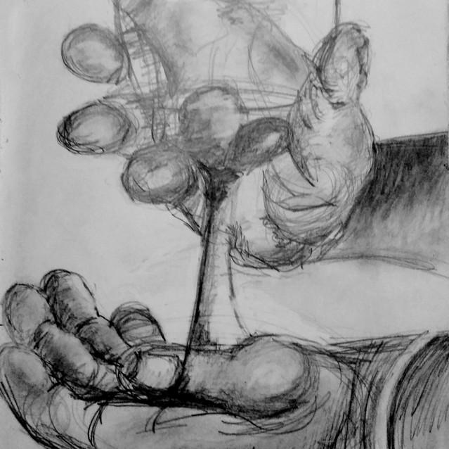 """""""Hand Sketchbook Study"""" 8.5x11 in."""