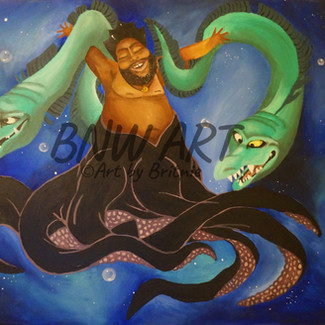 Male Ursula Commission | 20X24 in. | Acrylic on Canvas