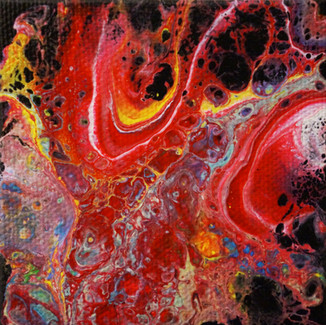 """Sweet Satisfaction"" | 3x3 in. | Acrylic on Canvas"