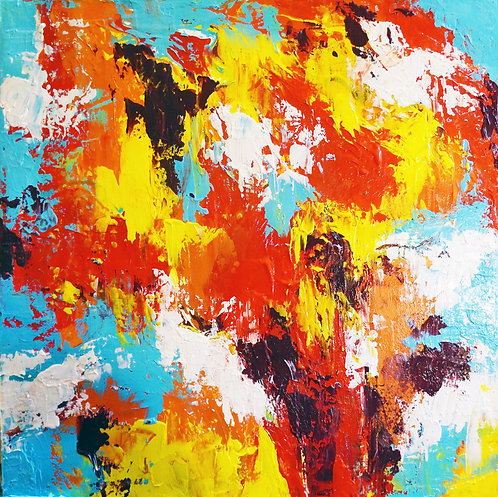 etsy southwestern abstract painting, layered color abstract modern acrylic painting on canvas